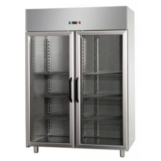 Armoires réfrigérées positives négative 2 portes vitrées 1200L