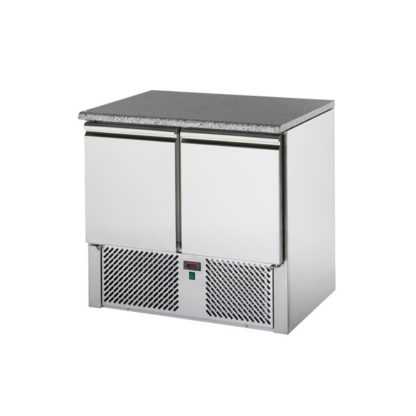 Saladette réfrigérée 2 portes avec Plan de travail granit