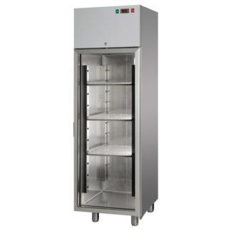 Armoires réfrigérées négative 1 porte vitrée 400L inox