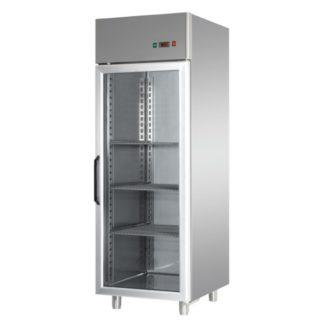 Armoires réfrigérées positives 1 porte vitrée 600L inox