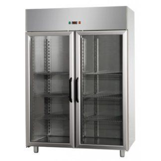 Armoires réfrigérées positives 2 portes vitrées 1200L inox