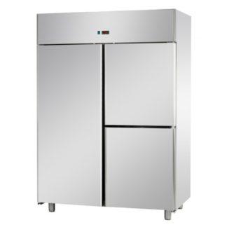 Armoires réfrigérées négatives 1200L inox 1 porte et 2 portillons