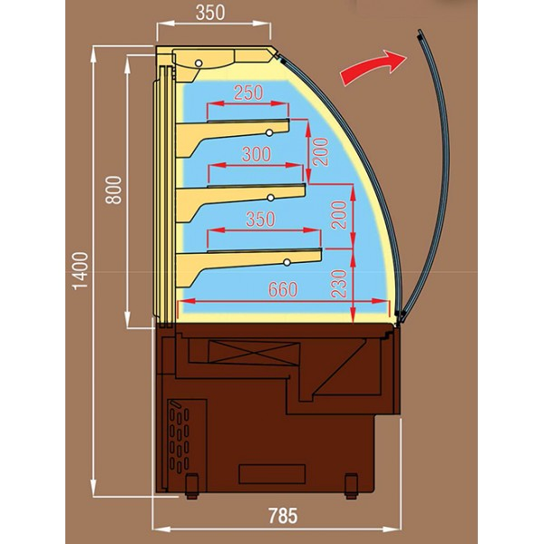 vitrine r frig r e pour p tisserie dimensions 120 cm. Black Bedroom Furniture Sets. Home Design Ideas