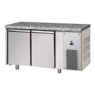 Table réfrigérée négative 2 portes inox dessus granit