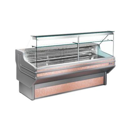 Vitrine réfrigérée 250 cm vitres bombées froid statique ou ventilé