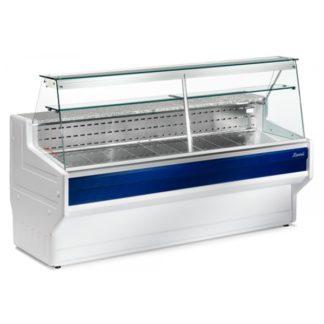 Vitrine réfrigérée 150 cm vitres droites inclinées froid statique HILL