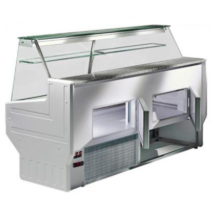 Vitrine réfrigérée 250 cm vitres droites inclinées froid statique HILL