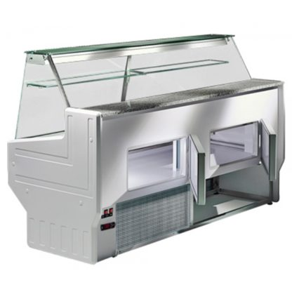 Vitrine réfrigérée 200 cm vitres bombées froid statique HILL