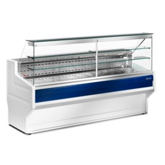 Vitrine réfrigérée 200 cm vitres droites froid statique HILL