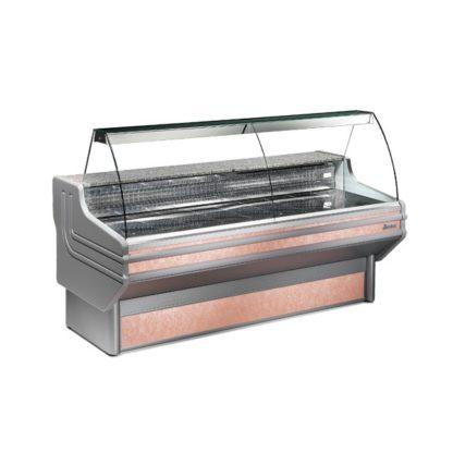 Vitrine réfrigérée 150 cm vitres bombées froid statique ou ventilé
