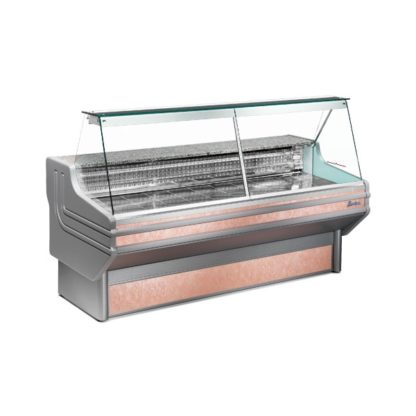 Vitrine réfrigérée 100 cm vitres droites inclinées froid statique ou ventilé