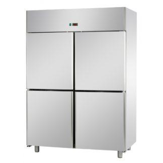 Armoires réfrigérées positives 4 portillons 1400L inox