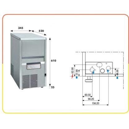 Machine à glace en grains 40 kg