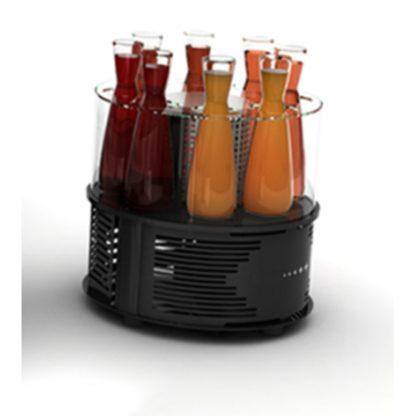 Présentoir à boissons réfrigéré avec éclairage leds