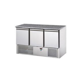 saladette réfrigérée 3 portes avec dessus granit
