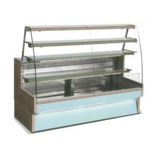 Vitrine réfrigérée de comptoir à tiroirs 140 cm vitre bombée
