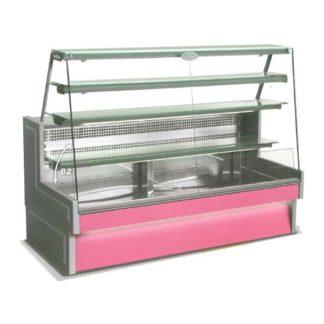 Vitrine refrigeree à tiroirs 200 cm vitre droite inclinée