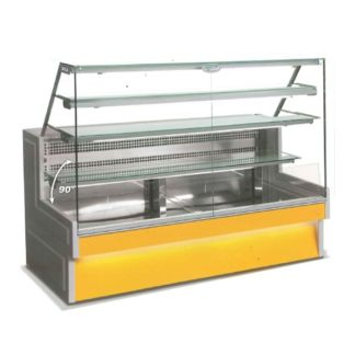 Vitrine refrigeree à tiroirs 140 cm vitre droite