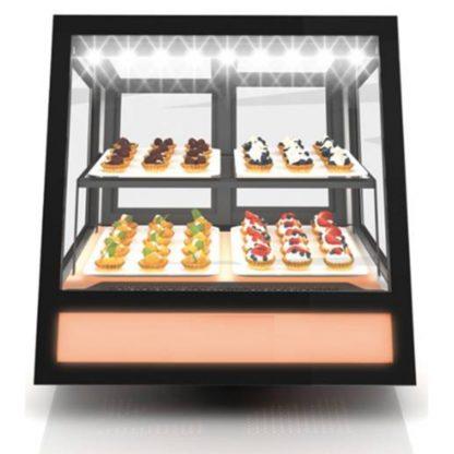 Vitrine réfrigérée de comptoir design avec changement de couleur