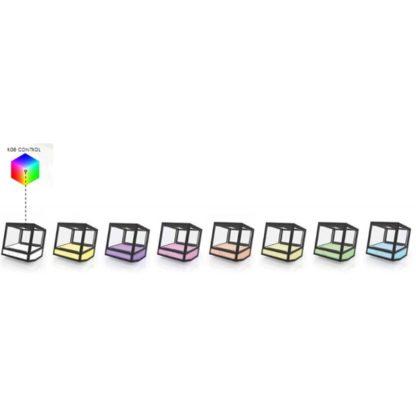 Vitrine de comptoir design avec changement de couleur meuble inox