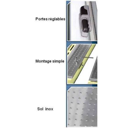 Mini Chambres froides démontables négatives 11.31 m3 cellule de refroidissement