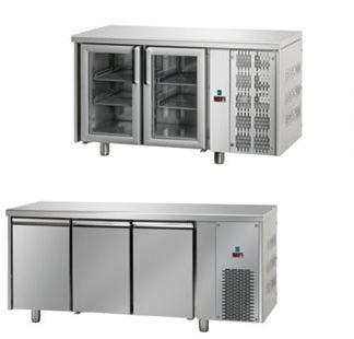 Table réfrigérée snack - meuble cuisine inox en intérieur et extérieur