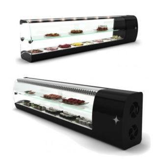 Vitrine réfrigérée étroite pour sushi et tapas pour professionnel