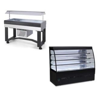 Vitrines SELF - Buffet et vitrine réfrigérée ou chaud - Meuble inox