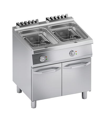 Friteuse électrique 10+10 litres four mixte professionnel