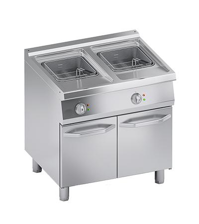 Friteuse électrique 15+15 litres four mixte professionnel