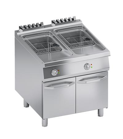Friteuse électrique 20+20 litres four mixte professionnel
