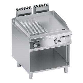 Fry top électrique ou gaz pour cuisine professionnel - Meuble inox