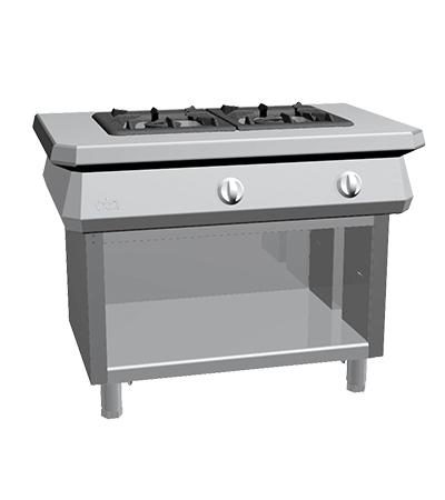 Piano de cuisson 2 feux gaz gamme 1100 four mixte