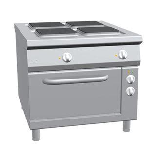 Piano de cuisson 4 feux électrique sur four gamme 1100 four mixte