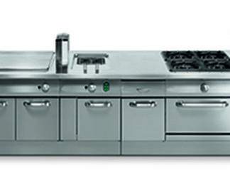 Matériel de cuisson gamme 1100 - Meuble cuisine inox professionnel